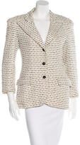 Chanel Tweed Notch-Lapel Jacket