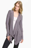 Splendid Women's Draped Thermal Hoodie