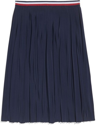 Tommy Hilfiger Women's Adaptive Pleated Skirt with Adjustable Waist