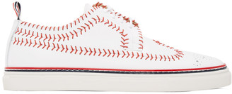 Thom Browne White Longwing Spectator Baseball Brogue Sneakers