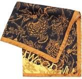 Vivienne Westwood Man Handkerchief, Black Gold Floral Print Hanky