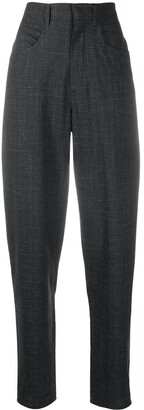 Etoile Isabel Marant Cross-Hatch-Print Tailored Trousers