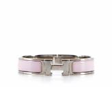 Hermes Pink Enamel Clic Clac PM Bracelet
