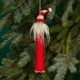 Bloomingdale's Striped Felt Santa Ornament - 100% Exclusive