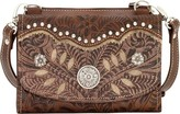 American West Women's Texas Two Strap Small Crossbody Bag/Wallet