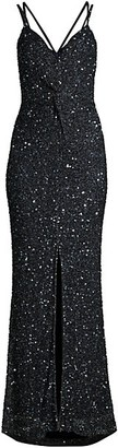 Parker Black Luna Sleeveless Sequin Gown