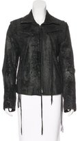 Ann Demeulemeester Leather Distressed Jacket