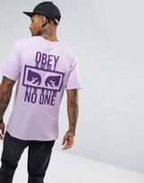 Obey T-shirt With No One Back Print