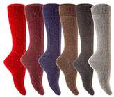 Meso Women's 6 Pairs Knee Length Wool Boot Socks Size 7-9 Six Colors