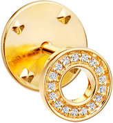 Astley Clarke Halo Biography 18ct yellow gold-plated vermeil and sapphire pin