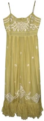 Temperley London Yellow Cotton Dresses