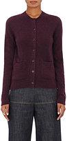 Barneys New York Women's Merino Wool-Blend Cardigan-DARK PURPLE