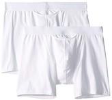 Hom HO-1 Long Boxer Briefs 2-Pack (White) Men's Underwear