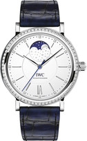 IWC IW459008 Portofino Portofino alligator-leather and diamond watch