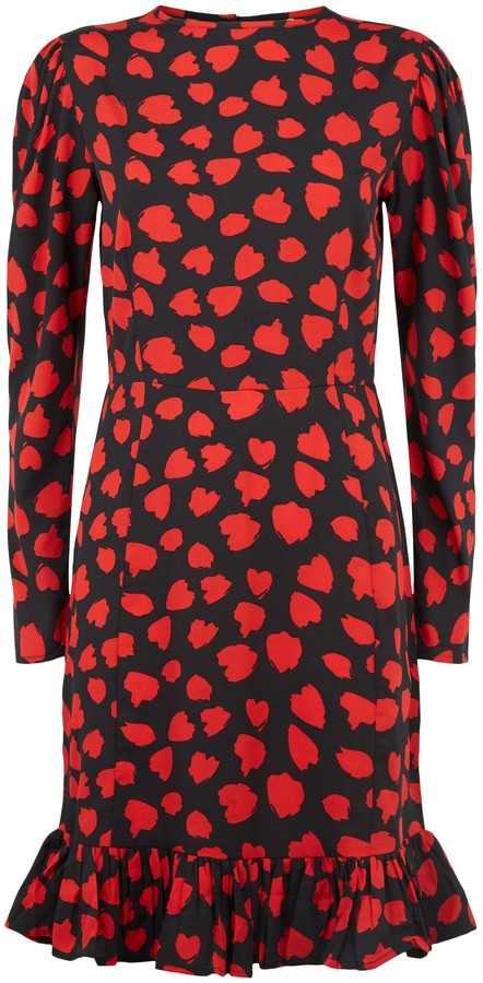 Thumbnail for your product : New Look Influence Animal Print Puff Sleeve Dress