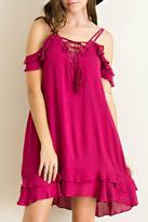 Entro Flutter Sleeve Dress