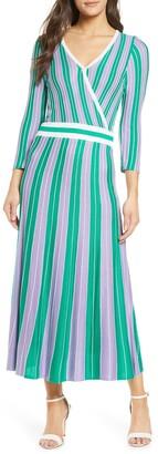Foxiedox Echo Stripe Midi Sweater Dress