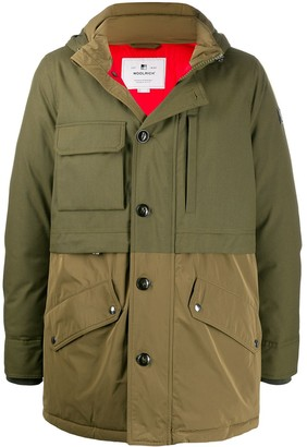 Woolrich Hooded Dual-Fabric Parka