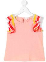 Chloé Kids - ruffle sleeve top - kids - Cotton/Polyester/Modal - 4 yrs
