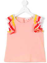 Chloé Kids - ruffle sleeve top - kids - Cotton/Polyester/Modal - 8 yrs