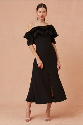 Keepsake COMPOSE MIDI DRESS black