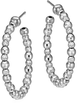 Platinum Born Limitless Small Platinum Hoop Post Earrings