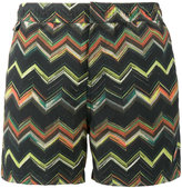 Missoni Green multi zigzag swim shorts - men - Polyamide - S