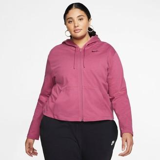Nike Women's Sportswear Jersey Full-Zip Hoodie (Plus Size)