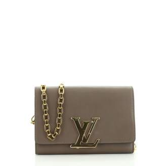 Louis Vuitton Louise Brown Leather Clutch bags