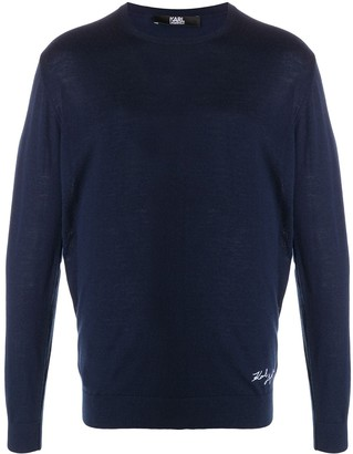Karl Lagerfeld Paris Knitted Crew Neck Cashmere Jumper