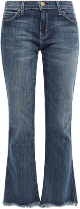 Current/Elliott Supeloved Frayed Mid-rise Flared Jeans
