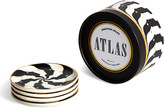 Jonathan Adler Atlas Coasters, Set of 4