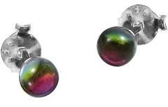 Aeravida Handmade 3mm Crystal Round Ball .925 Sterling Silver Stud Earrings