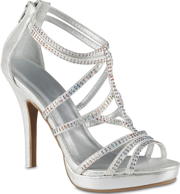 Call it SPRING Call It SpringTM Chloe Strappy Rhinestone Sandals