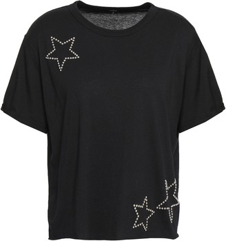 Monrow Studded Cotton And Modal-blend Jersey T-shirt