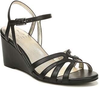 Naturalizer Strappy Wedge Leather Sandals - Gio