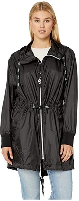 UGG Brittany Hooded Anorak (Black) Women's Clothing
