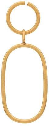 Maya Magal oval outline hoop earring