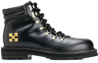 Off-White Arrows applique hiking boots