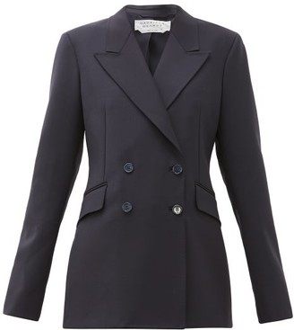 Gabriela Hearst Angela Double-breasted Wool-blend Jacket - Navy