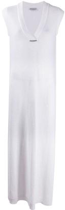 Brunello Cucinelli Knitted Linen Maxi Dress
