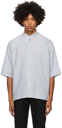 Homme Plissé Issey Miyake Grey Linen and Cotton Short Sleeve Shirt