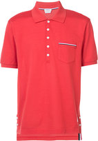 Thom Browne striped trim polo shirt - men - Cotton - 2