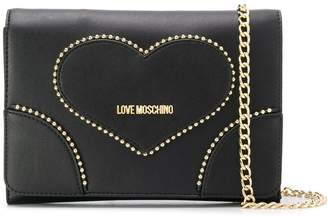 Love Moschino studded heart cross body bag