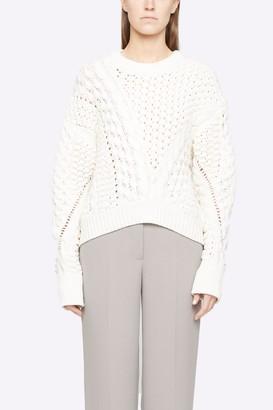 3.1 Phillip Lim Cable Knit Crewneck Sweater
