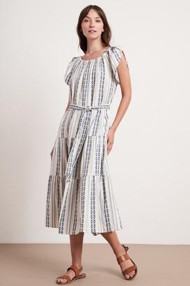 Velvet by Graham & Spencer Tian Stripe Jacquard Maxi Dress