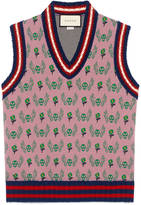 Gucci Skull and flower jacquard wool waistcoat