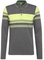 Hugo Boss Pleesy Slim Fit, Cotton Long Sleeve Polo L Grey