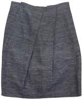 Lida Baday Grey Silk & Linen Skirt