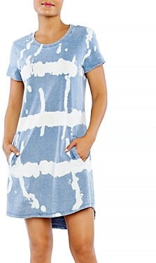 BILLY T Shock Wave Tie Dyed Tee Dress